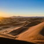 Sunrise Erg Chigaga desert