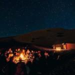 Night in desert Mhamid